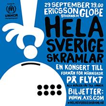 Hela Sverige skramlar - en konsert till förmån för människor på flykt