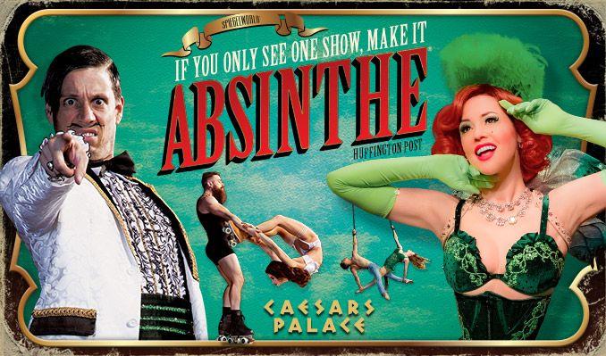 Absinthe tickets at Spiegeltent on the Roman Plaza at Caesars Palace, Las Vegas