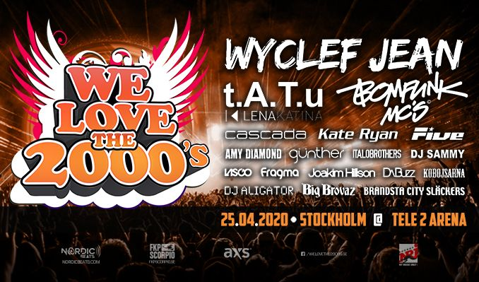 WE LOVE THE 2000s - NY ARENA & DATUM tickets at Tele2 Arena in Stockholm