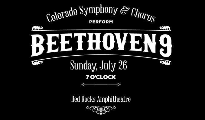 Colorado Symphony & Chorus Perform: Beethoven 9 - CANCELLED tickets at Red Rocks Amphitheatre in Morrison