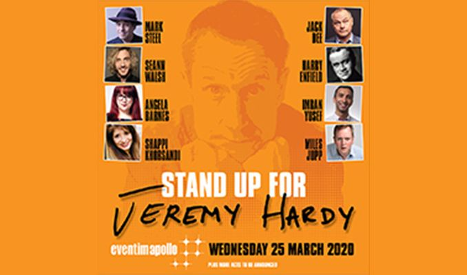 Stand Up for Jeremy Hardy tickets at Eventim Apollo in London