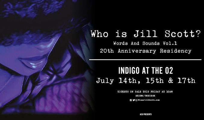 Jill Scott - CANCELLED tickets at indigo at The O2 in London