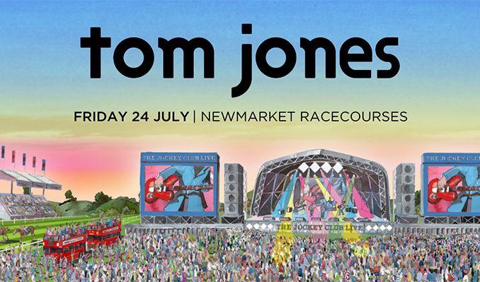 Tom Jones: The Jockey Club Live - RESCHEDULED  tickets at Newmarket Racecourses in Suffolk