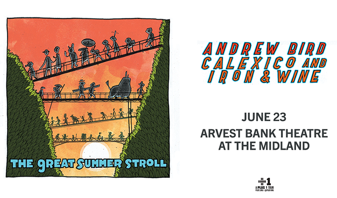 Andrew Bird and Calexico and Iron & Wine tickets at Arvest Bank Theatre at The Midland in Kansas City