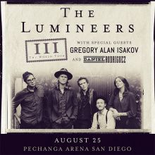 The Lumineers tickets at Pechanga Arena San Diego in San Diego