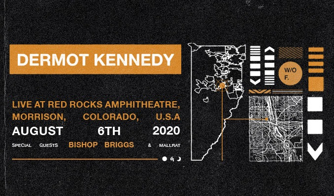 Dermot Kennedy: Without Fear Tour tickets at Red Rocks Amphitheatre in Morrison