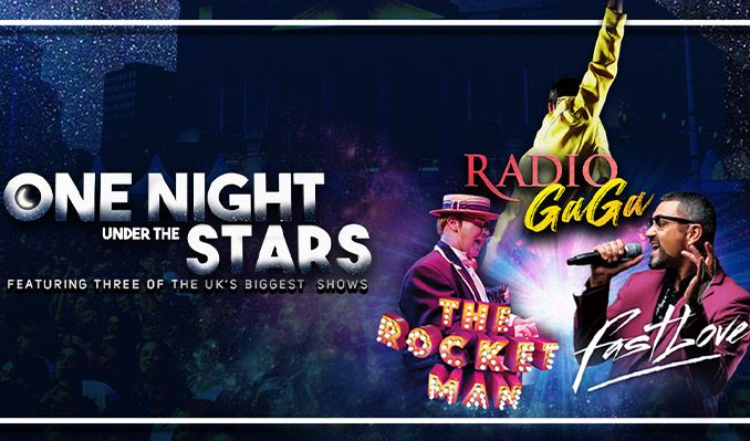 One Night Under the Stars featuring Radio Ga Ga, Fastlove and The Rocket Man - RESCHEDULED TO 2021 tickets at Millennium Square in Leeds