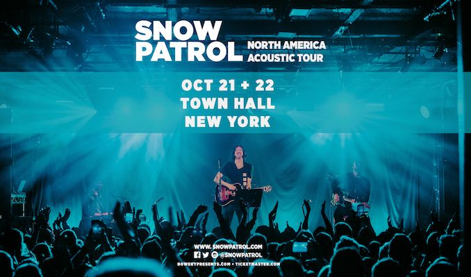 Snow Patrol Acoustic Tour tickets at Town Hall in New York City