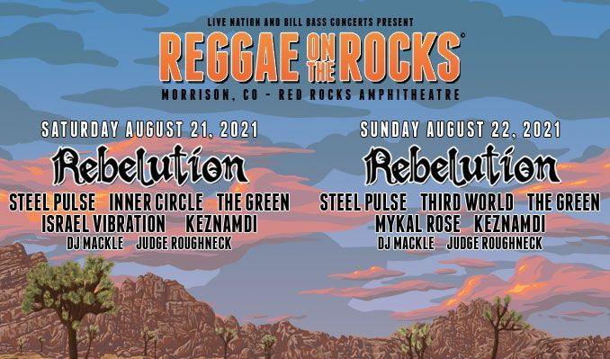 Reggae On The Rocks 8/21 tickets at Red Rocks Amphitheatre in Morrison