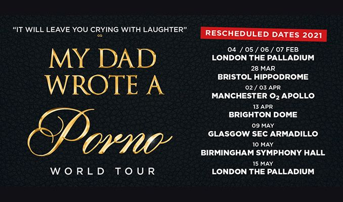 My Dad Wrote A Porno - RESCHEDULED  tickets at Brighton Dome Concert Hall in Brighton