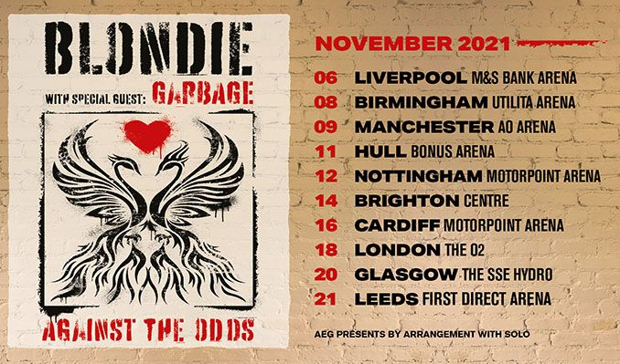Blondie tickets at Motorpoint Arena in Nottingham