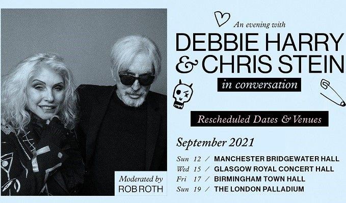 Debbie Harry & Chris Stein In Conversation - RESCHEDULED tickets at The Bridgewater Hall in Manchester
