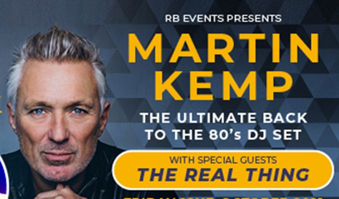 Martin Kemp & The Real Thing tickets at indigo at The O2 in London