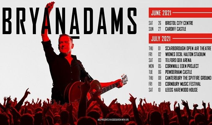 Bryan Adams tickets at QEII Arena in Telford