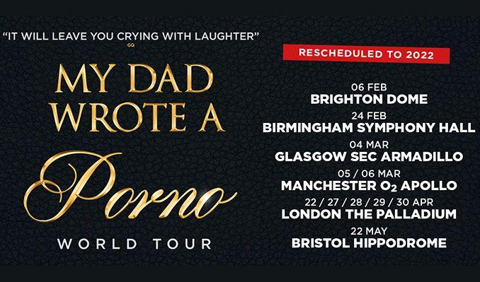 My Dad Wrote A Porno - RESCHEDULED  tickets at Bristol Hippodrome in Bristol