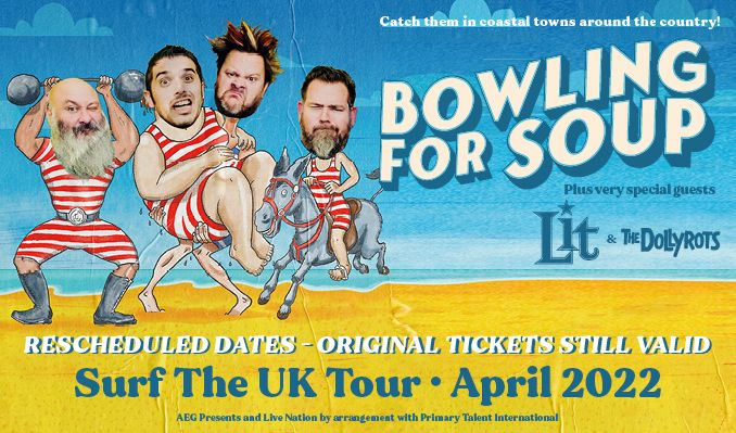 Bowling for Soup - RESCHEDULED tickets at Riviera International Centre in Devon