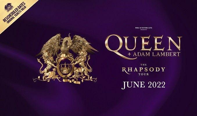 Queen + Adam Lambert - RESCHEDULED tickets at The O2 in London