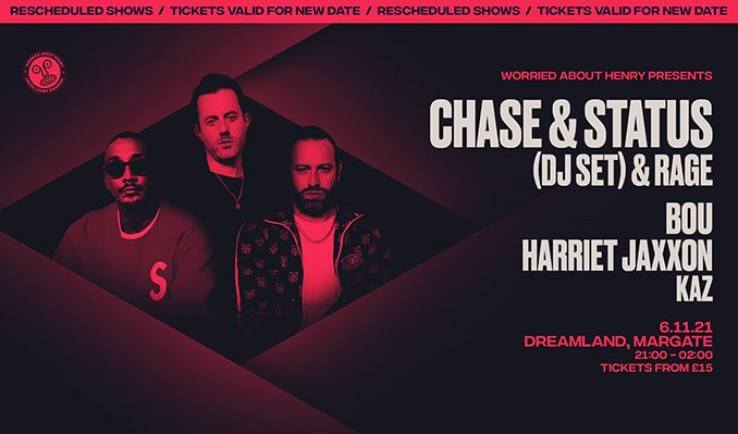 Chase & Status (DJ Set) & Rage RESCHEDULED tickets at Hall By The Sea, Dreamland Margate in Margate