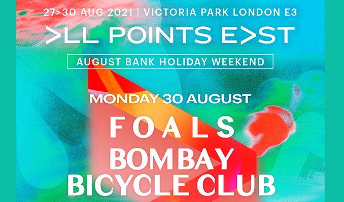 Foals and Bombay Bicycle Club tickets at Victoria Park in London