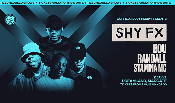 Shy FX - RESCHEDULED  tickets at Hall By The Sea, Dreamland Margate in Margate