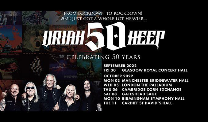 Uriah Heep - RESCHEDULED tickets at Glasgow Royal Concert Hall in Glasgow