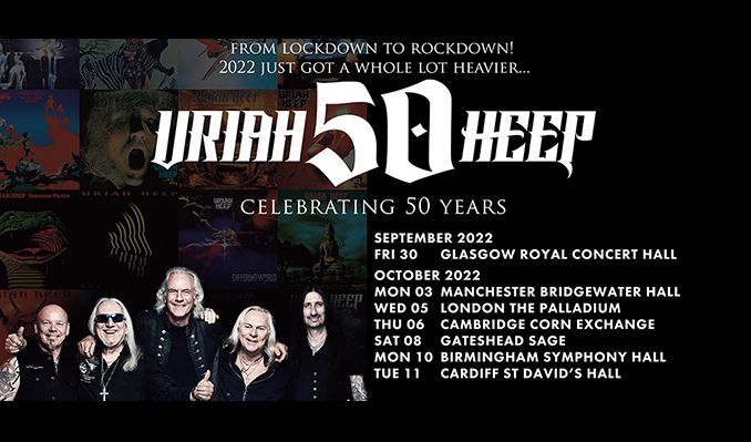 Uriah Heep - RESCHEDULED tickets at The Bridgewater Hall in Manchester