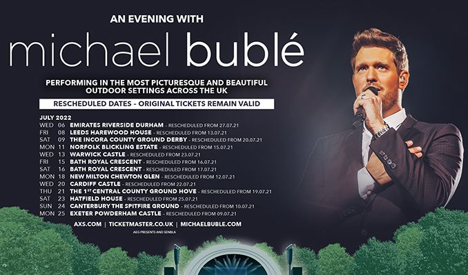 An Evening with Michael Bublé - RESCHEDULED  tickets at The Incora County Ground in Derby