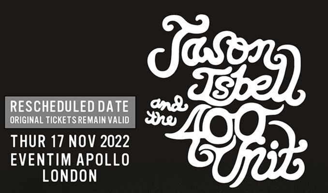 Jason Isbell and the 400 Unit - RESCHEDULED tickets at Eventim Apollo in London