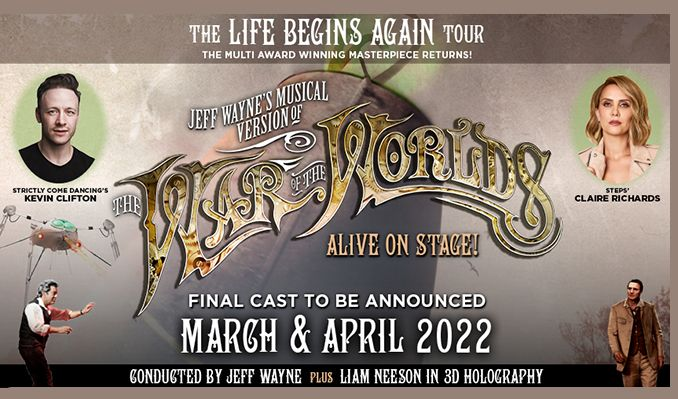 Jeff Wayne's Musical Version of The War of The Worlds - RESCHEDULED tickets at first direct arena in Leeds