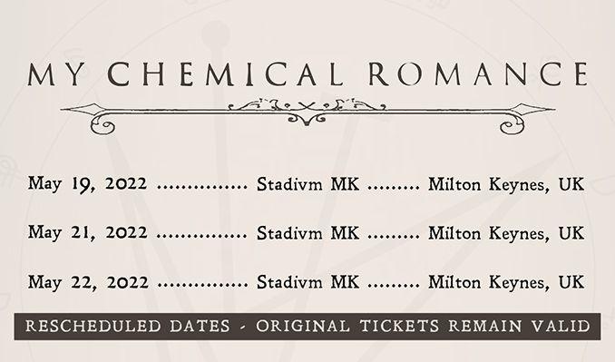 My Chemical Romance - RESCHEDULED tickets at Stadium MK in Milton Keynes