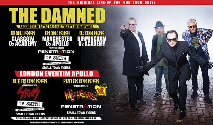 The Damned - RESCHEDULED tickets at O2 Apollo Manchester in Manchester