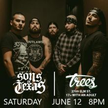 Sons of Texas tickets at Trees in Dallas