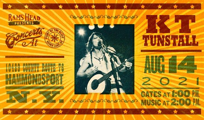 KT Tunstall tickets at Point of the Bluff in Hammondsport