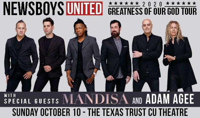 Newsboys United tickets at Texas Trust CU Theatre in Grand Prairie