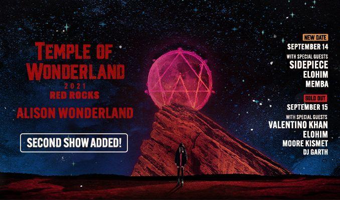 Alison Wonderland 9/14 tickets at Red Rocks Amphitheatre in Morrison