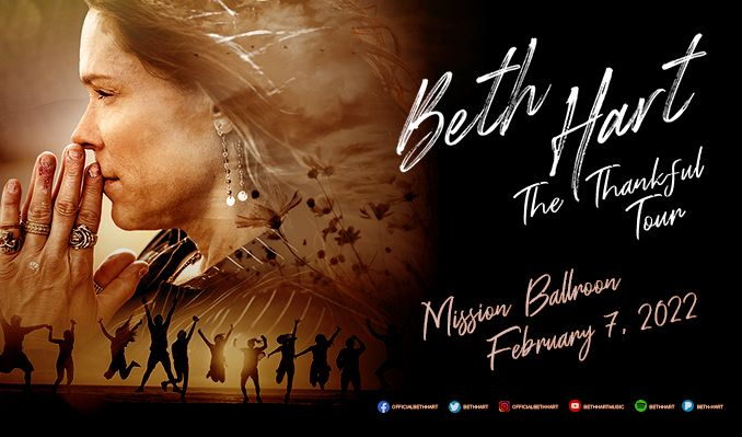 Beth Hart: The Thankful Tour tickets at Mission Ballroom in Denver