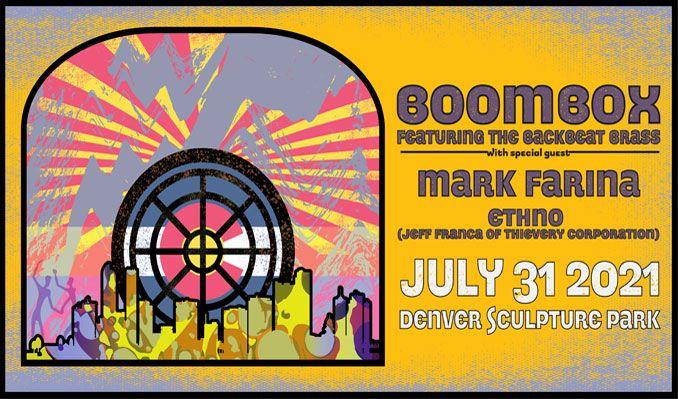 BoomBox feat BackBeat Brass tickets at Sculpture Park in Denver