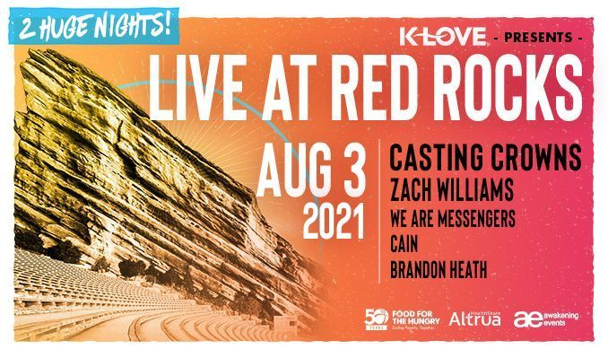 Casting Crowns 8/3 tickets at Red Rocks Amphitheatre in Morrison