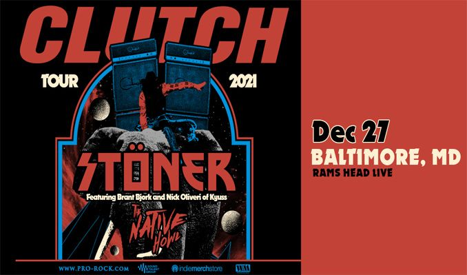 Clutch tickets at Rams Head Live! in Baltimore