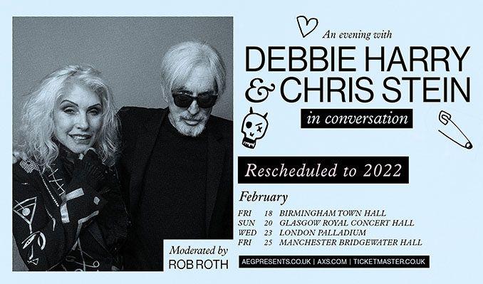 Debbie Harry & Chris Stein In Conversation - RESCHEDULED tickets at Birmingham Town Hall in Birmingham