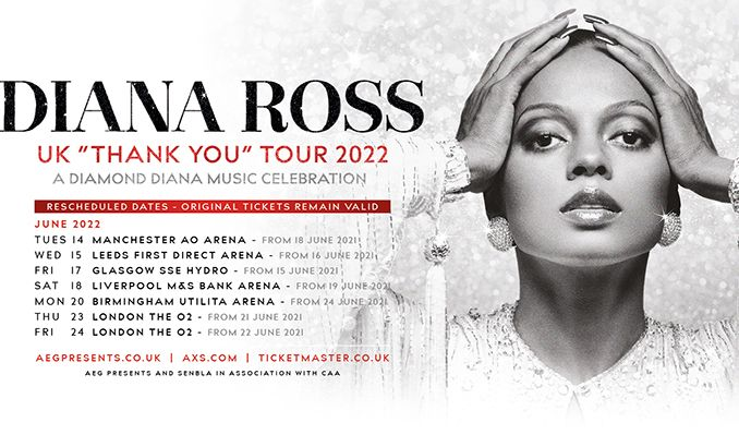 Diana Ross - CANCELLED tickets at The O2 in London