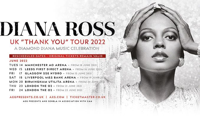 Diana Ross - RESCHEDULED tickets at first direct arena in Leeds