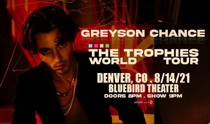 Greyson Chance tickets at Bluebird Theater in Denver