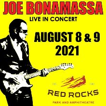 Joe Bonamassa tickets at Red Rocks Amphitheatre in Morrison