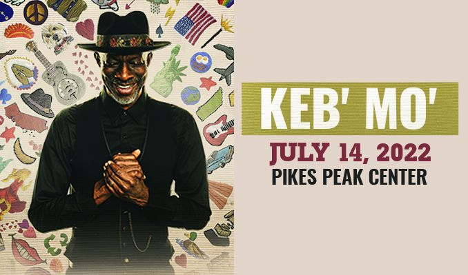 Keb' Mo' tickets at Pikes Peak Center in Colorado Springs