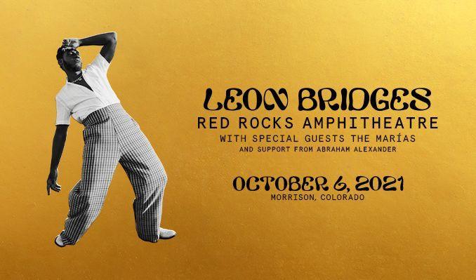 Leon Bridges tickets at Red Rocks Amphitheatre in Morrison