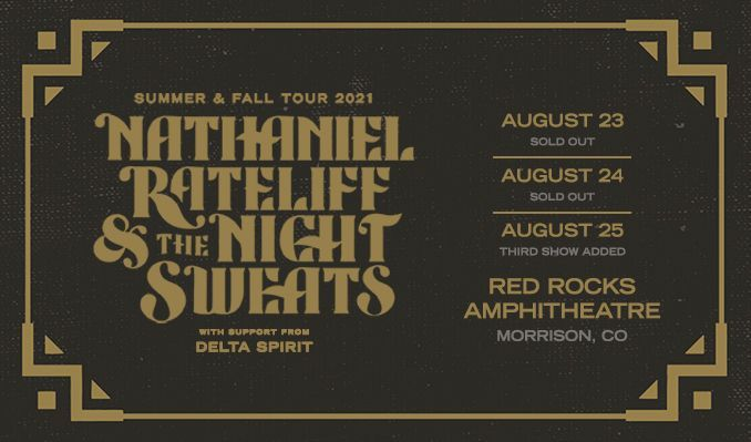 Nathaniel Rateliff & The Night Sweats 8/25 tickets at Red Rocks Amphitheatre in Morrison