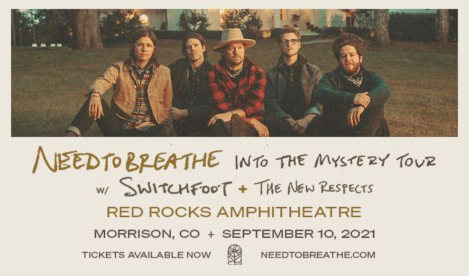 NEEDTOBREATHE tickets at Red Rocks Amphitheatre in Morrison
