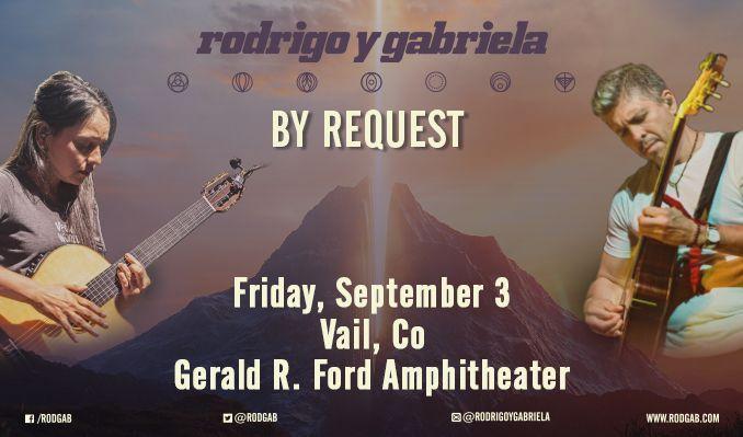 Rodrigo y Gabriela tickets at Gerald R. Ford Amphitheater in Vail