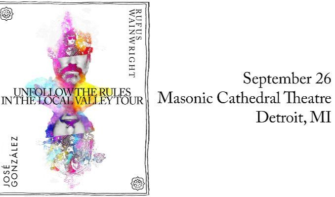 Rufus Wainwright and José González tickets at Masonic Cathedral Theatre in Detroit